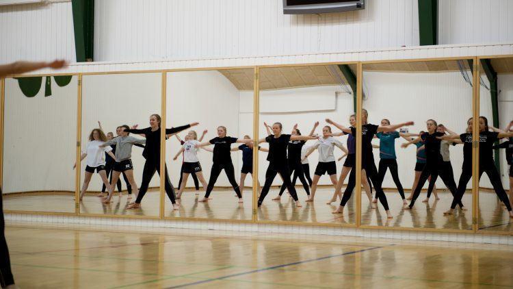 Gymnastik på Lyngs Idrætsefterskole