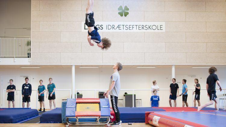 Springgymnastik på Lyngs Idrætsefterskole